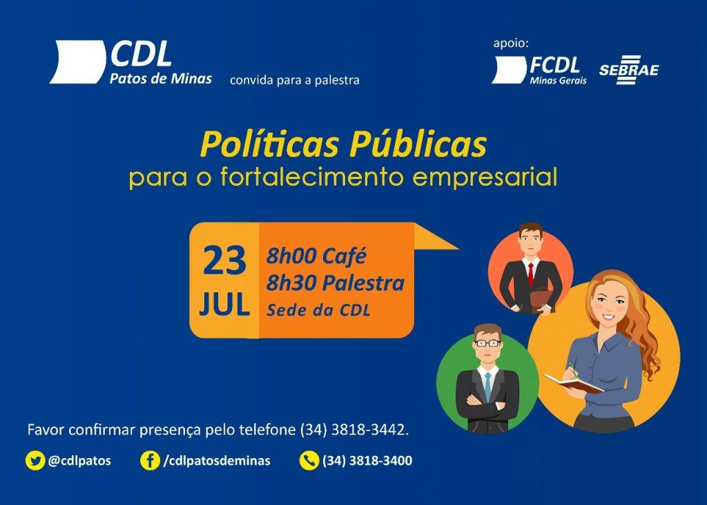 Palestra sobre Políticas Públicas acontecerá em Patos de Minas