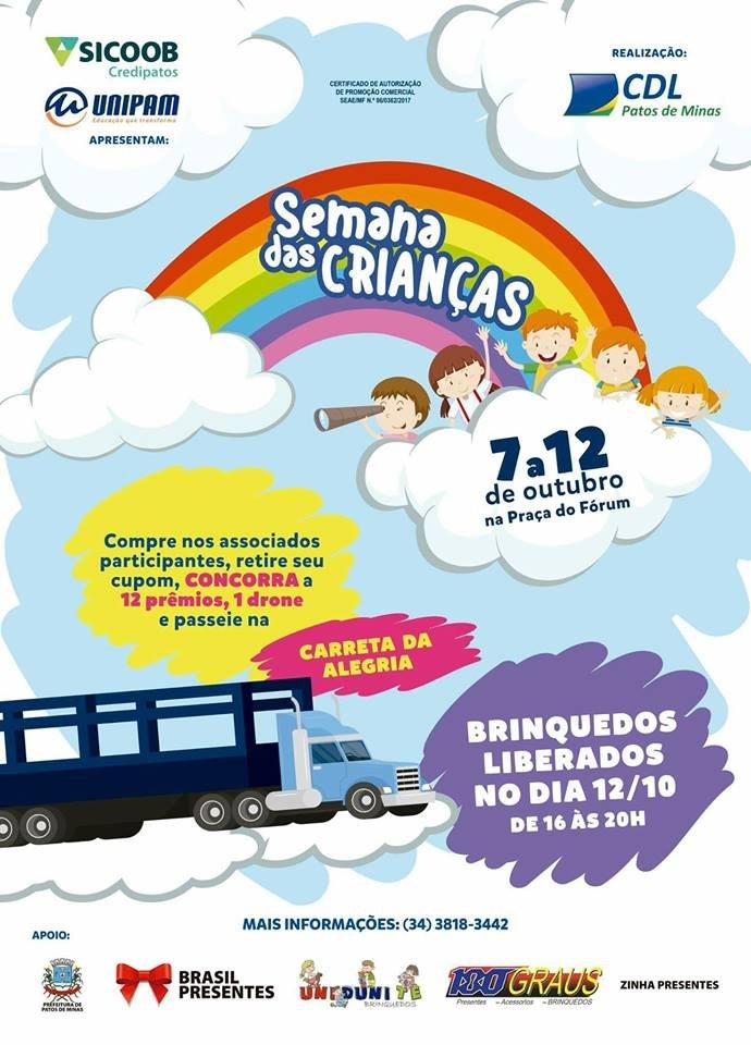 Sorteio da Campanha Semana das Crianças CDL Patos de Minas