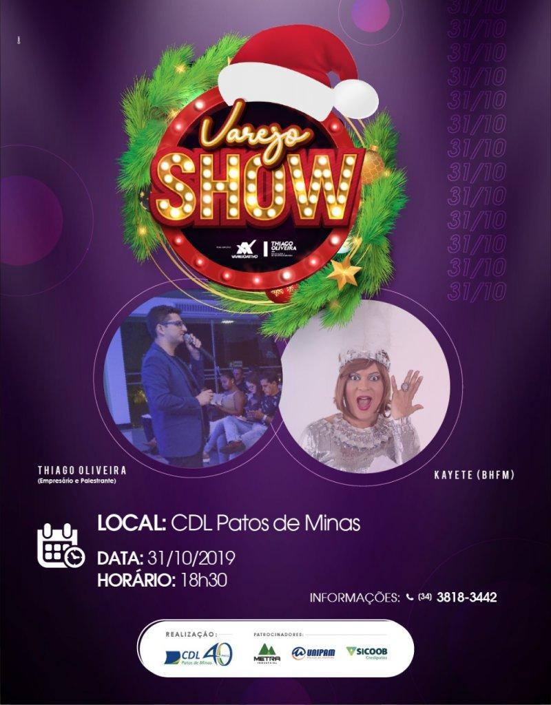 CDL Patos de Minas lançará promoção Sonho de Natal 2019 com evento Varejo Show