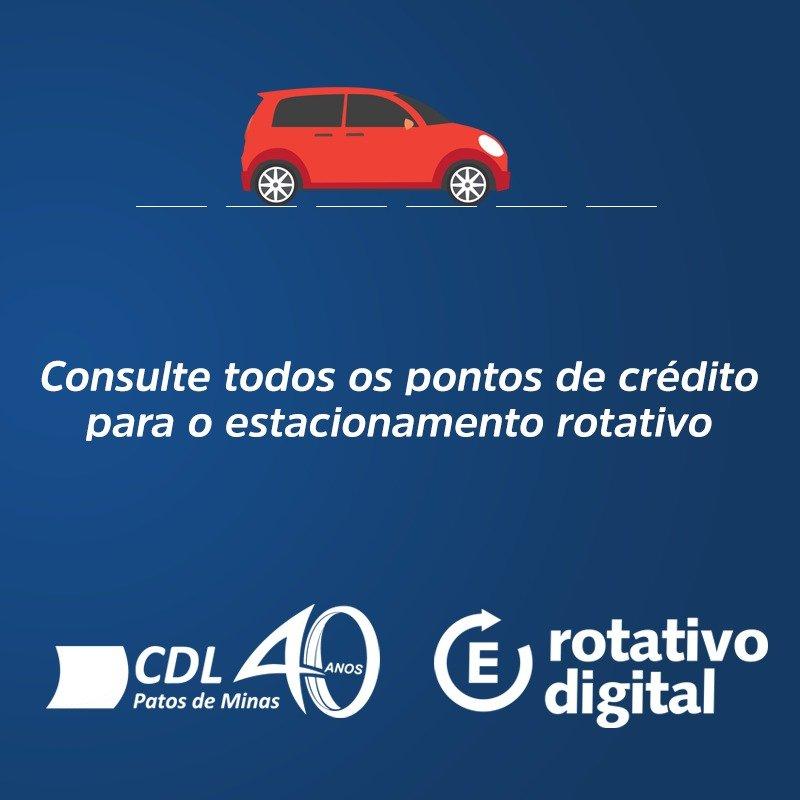 CDL DIVULGA LISTA COM PONTOS DE VENDA DE CRÉDITO PARA ESTACIONAMENTO ROTATIVO