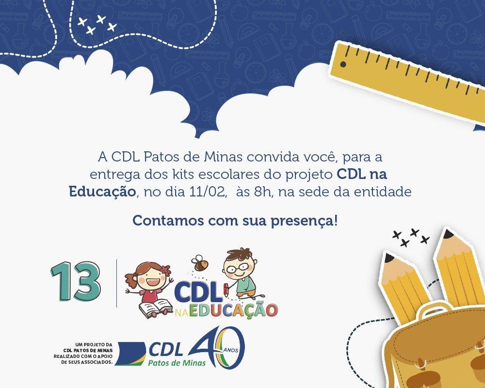 CDL Patos de Minas fará entrega de Kits Escolares do Projeto CDL na Educação