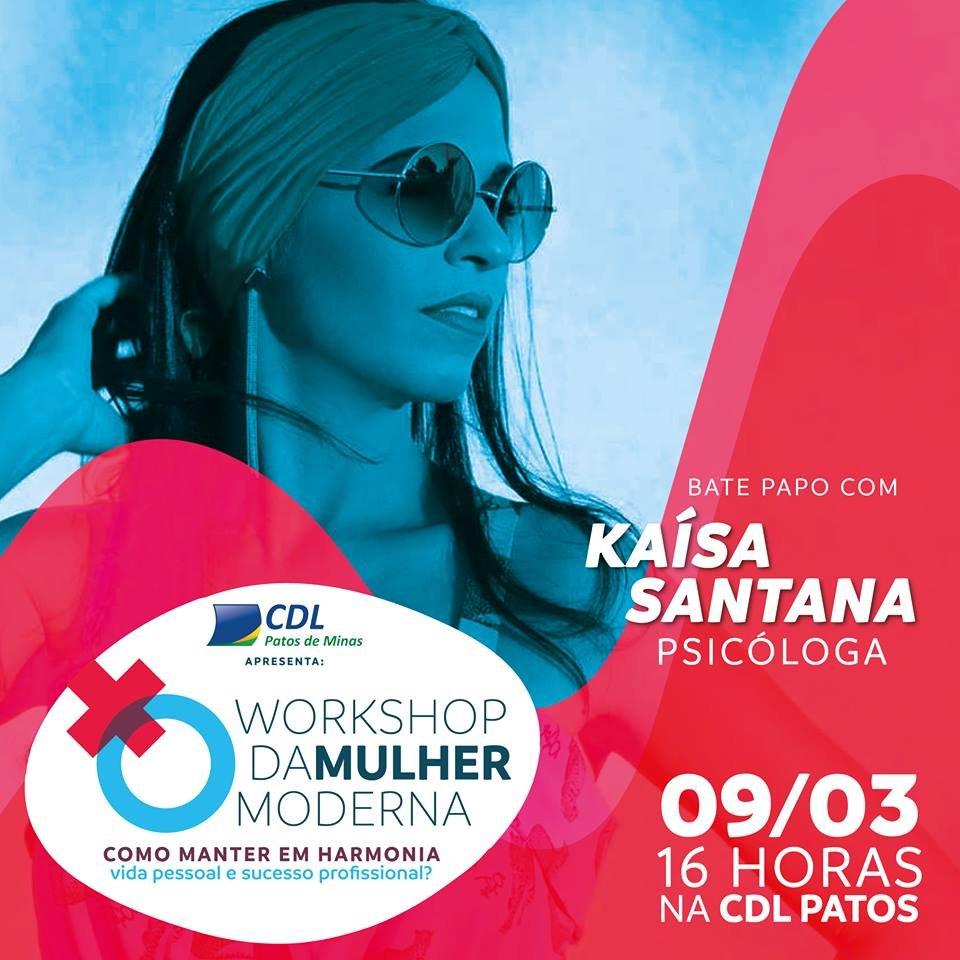 """Palestra de Kaísa Santana no """"Workshop da Mulher Moderna"""""""