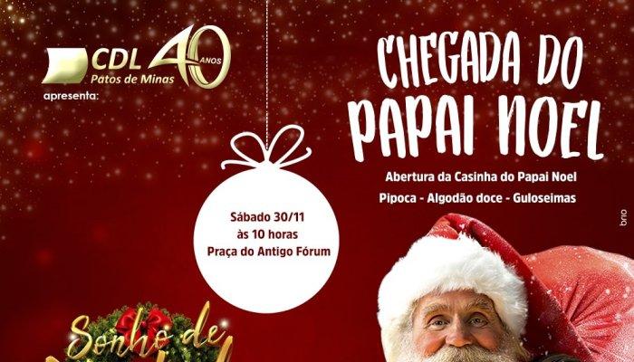 CDL Patos de Minas anuncia a tradicional Chegada do Papai Noel