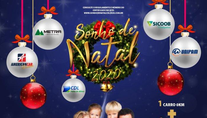 CDL Patos de Minas vai premiar consumidor com veiculos 0km e mais 80 prêmios nesse Natal!