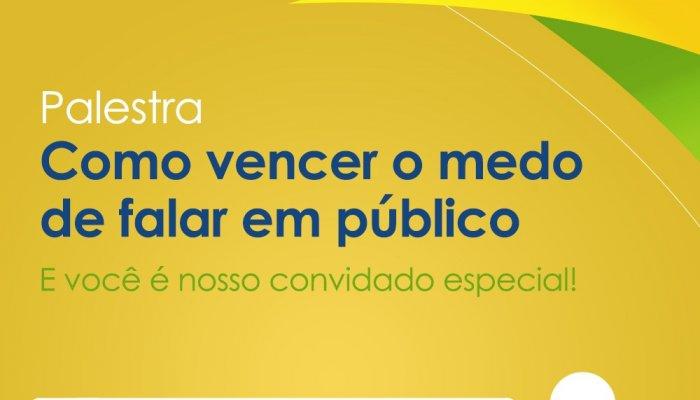 CDL promove palestra sobre VENCER O MEDO DE FALAR EM PÚBLICO