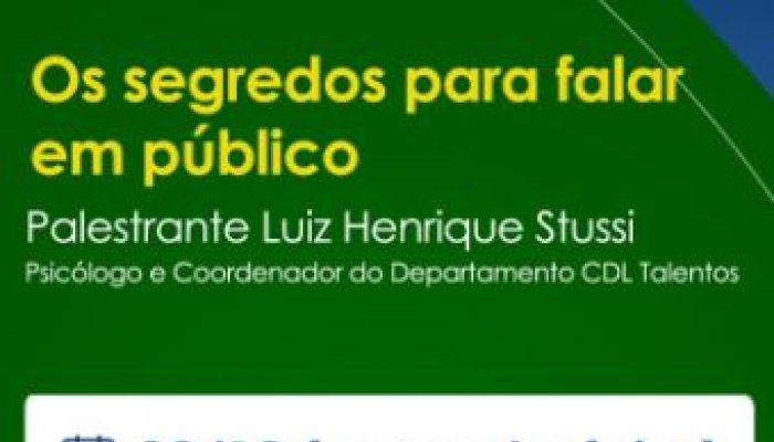 CDL Patos de Minas promove palestra sobre '' Os segredos para falar em público''